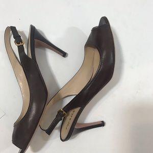 Prada brown slingback heels shoes sz 12